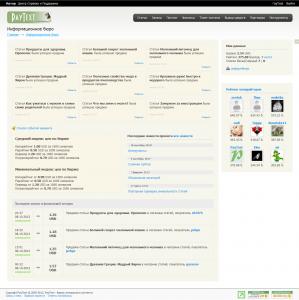 Скрин главной страницы действующего копирайтера текстовой биржи PayText